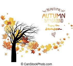 outono, abstratos, fundo