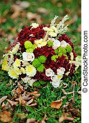 outono, arranjo flor