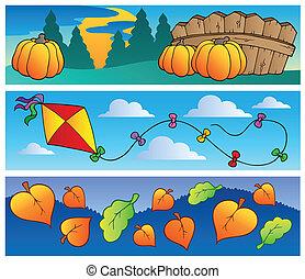outono, bandeiras, cobrança