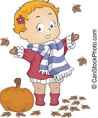 outono, bebê