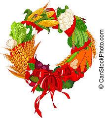 outono, bem-vindo, legumes