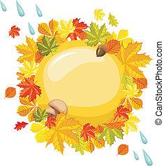 outono, cartão