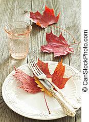 outono, colocação tabela