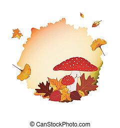 outono, coloridos, fundo