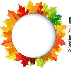 outono, composição, com, borbulho fala