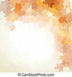 outono, desenho, fundo, com, colorful., eps, 10