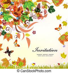outono, desenho, seu, fundo