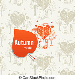 outono, estação, conceito