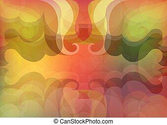 outono, experiência., abstratos, vetorial, coloridos