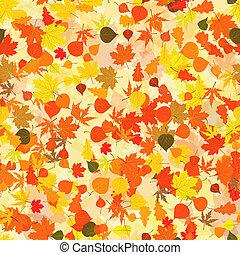outono, experiência., folhas, eps, 8