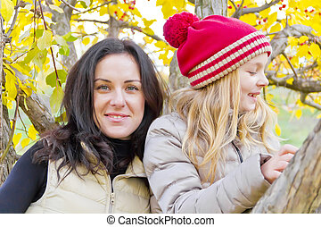 outono, família, feliz