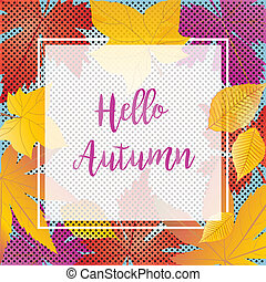outono, feriado, cartão cumprimento