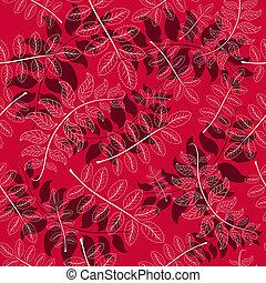 outono, floral, seamless, padrão