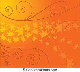 outono, florescer
