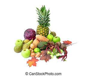 outono, frutas legumes