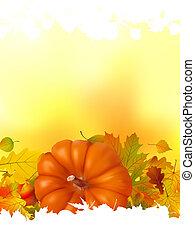 outono, fundo, com, lugar, para, seu, text., eps, 8