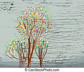 outono, fundo, desenho, artisticos, textura