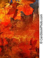 outono, grunge, fundo