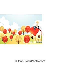 outono, história