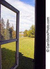 outono, janela