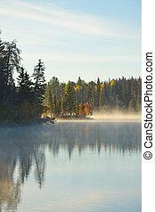 outono, lago
