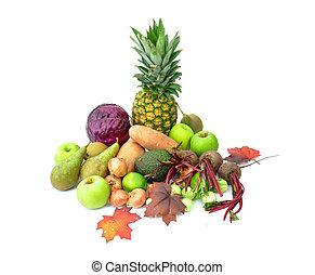 Outono, legumes, frutas