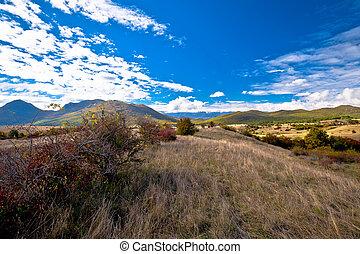 outono, lika, paisagem, vista