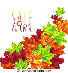 outono, luminoso, folhas, fundo