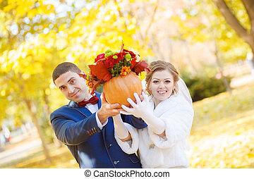 outono, noivinhos, casório