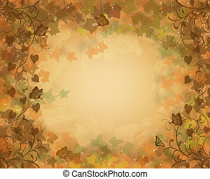 outono, outono, fundo, folhas