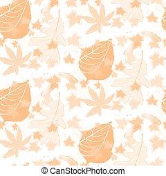 outono, padrão, duotone, seamless, fundo