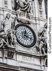 outono, parisian, arquitetura, tempo