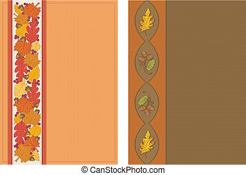 outono, postais, vertical