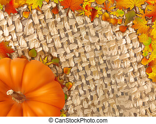 outono, quadro, caído, leaves., coloridos
