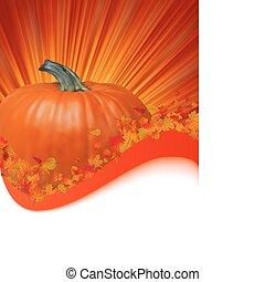 outono, quadro, com, espaço, para, text., eps, 8