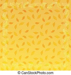 outono, quadro, vetorial, folhas, fundo