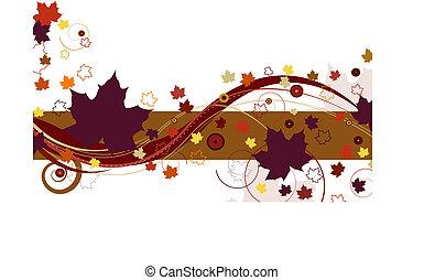 outono, roxo, folhas