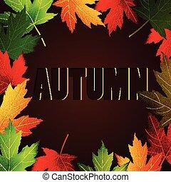 outono sai, abstratos, fundo, maple