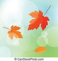 outono sai, conceito, fundo, vetorial