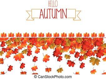 outono sai, fundo, coloridos