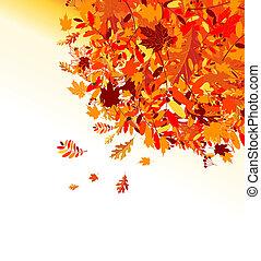 outono sai, fundo, para, seu, desenho