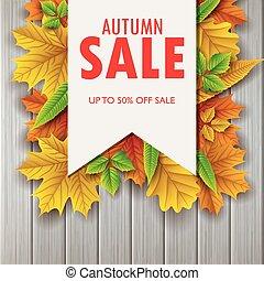 outono sai, fundo, venda, coloridos