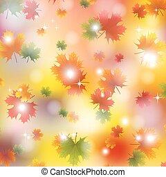 outono sai, maple, fundo