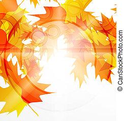 outono sai, vetorial, abstratos, fundo