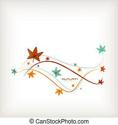 outono sai, vetorial, fundo, natureza