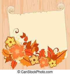 outono, saudações