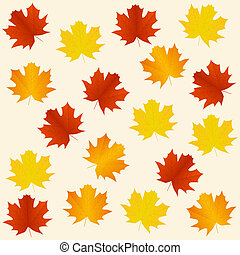 outono, seamless, fundo