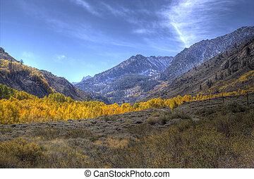 outono, sierras, oriental