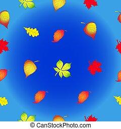 outono, textura, seamless, forma, leaves.
