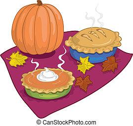outono, tortas